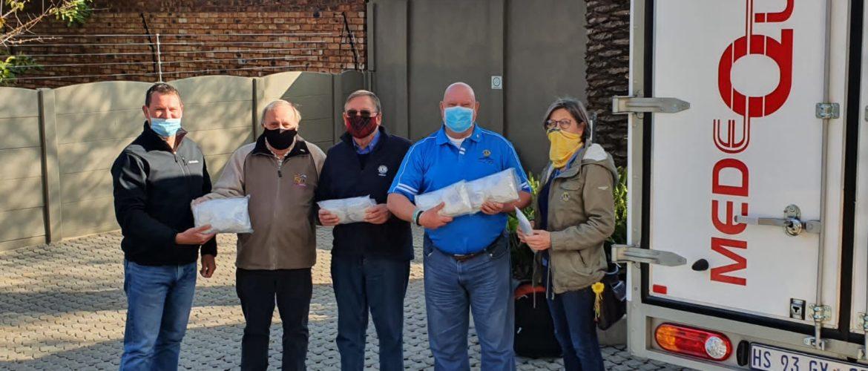 Medequip donates 1300 masks to Benoni Lions Club